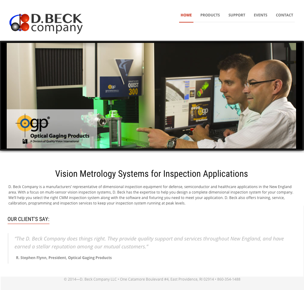D Beck Company website